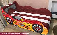 Кровать машина Тачки ШОК с матрасом от 1500х700, фото 1