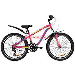 Подростковый велосипед Discovery Flint AM Vbr 24 дюйма Малиновый