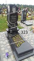 Памятники из черного гранита мужской