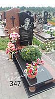 Пам'ятник на могилу із кутами, квітником каталог