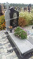 Памятник на могилу с серым цветником каталог