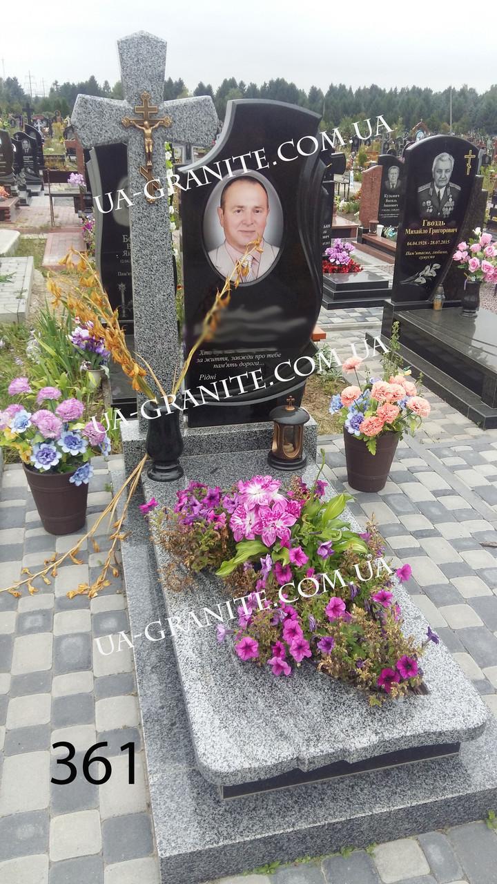 Пам'ятники красиві із хрестом та керамікою каталог