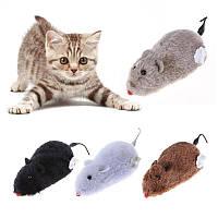Заводная мышь (крыса) меховая, фото 1
