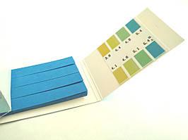 Лакмусовая бумага (рН-тест) 3.8 - 5.4рН  80 полосок (ML0518)