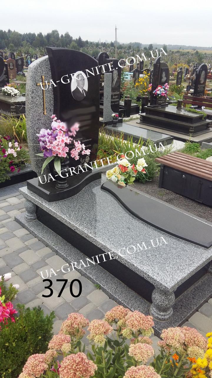 Памятники красивые из серого и крест фото