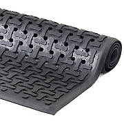 Коврик резиновый  90 х 150 х 1,2 см чёрный
