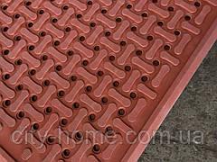 Коврик резиновый  90 х 150 х 1,2 см коричневый