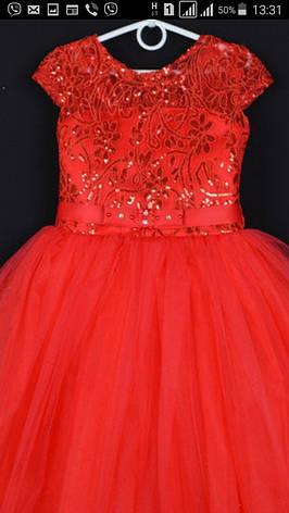 Дитяче плаття для дівчинки ошатне р. 5-6 років опт євро сітка, фото 2