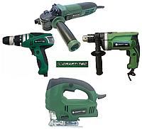 Набор электроинструмента  Craft-tec 4в1: Болгарка, Дрель, Сетевой шуруповерт, Лобзик.