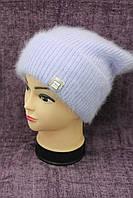 Женская вязаная шапка цвета лаванда фирмы Odyssey модель Вероника (19496)