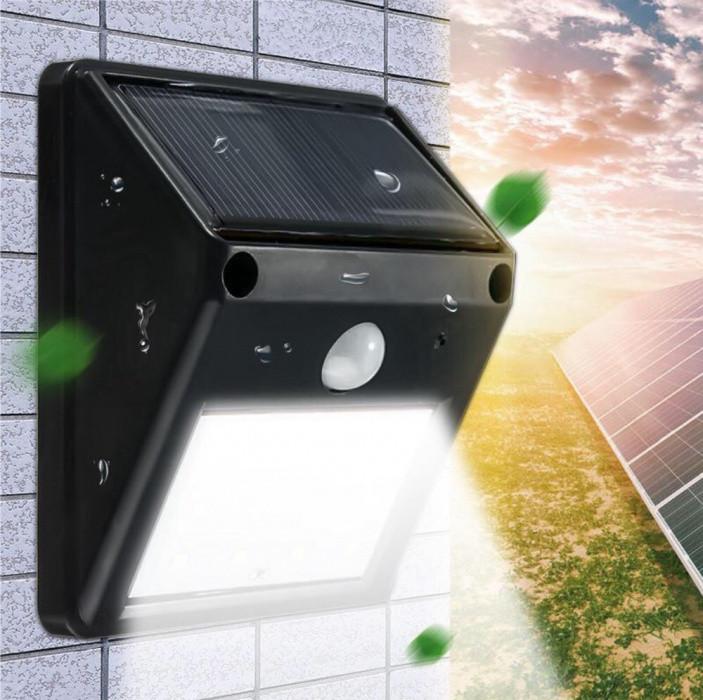 Светодиодный уличный фонарь 20 диодов  беспроводной на солнечной батарееё