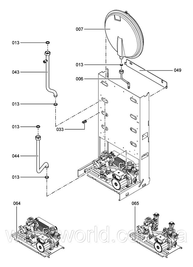 Взрывной чертеж Схема WH1B 4