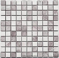 Мозаика СМ3019 С2 Gray White - керамическая мозаика 300х300