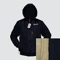 """Зимняя мужская куртка на овчине """"Коламбия"""" фабричный пошив пр-во Украина  E1842H"""