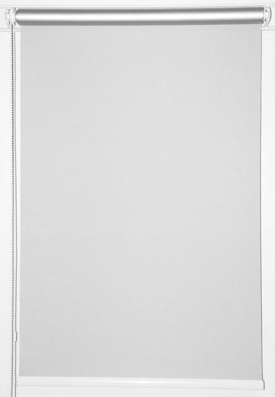 Готовые рулонные шторы 525*1500 Ткань Блэкаут Сильвер Белый