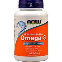 Омега 3 Now Omega 3 1000mg 100 sgels