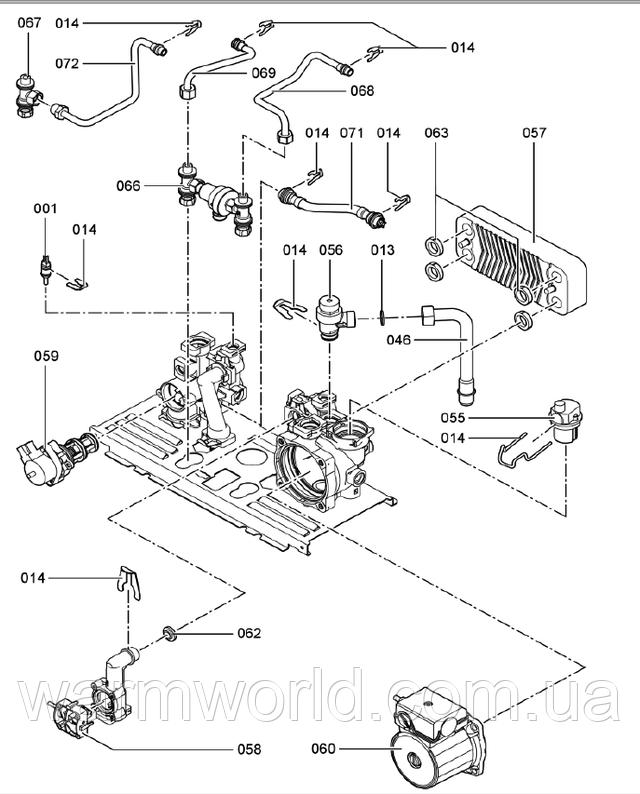Взрывной чертеж Схема WH1B 5