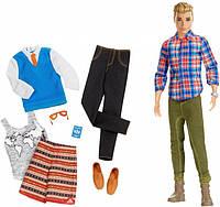 Кукла Кен Путешествие с набором одежды Barbie Pink Passport Ken Fashion Doll Gift Set Mattel (DMR49)