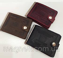 Кошелек мужской портмоне 100$ Долларов из натуральной кожи