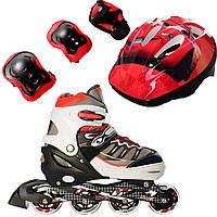 Роликовые коньки Ролики детские Feitelai Combo Disney ( + защита + шлем ) 38-41, Тачки2 (2T3007E)