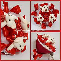 Букет из игрушек мишек Красный, фото 1