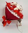 Букет из игрушек мишек Красный, фото 3