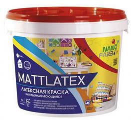 Інтер'єрна акрилова латексна фарба миюча Mattlatex Nano farb 14 кг