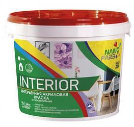 Інтер'єрна акрилова фарба сухе стирання Interior Nano farb 14 кг