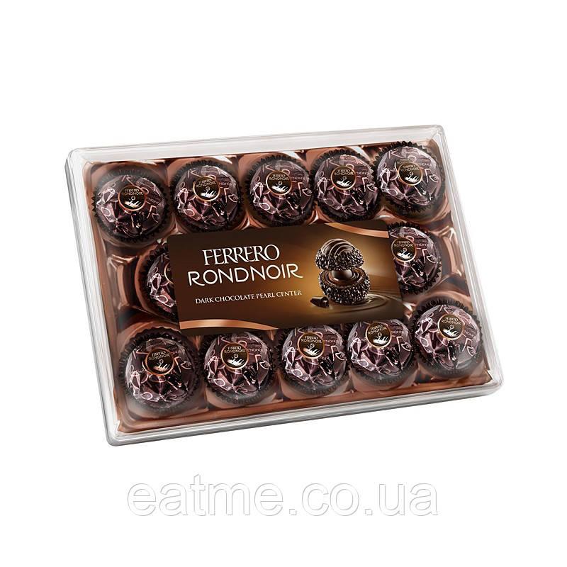 Ferrero Rondnoir Вафельная конфета с нежным какао-кремом и жемчужиной из чёрного шоколада в центре