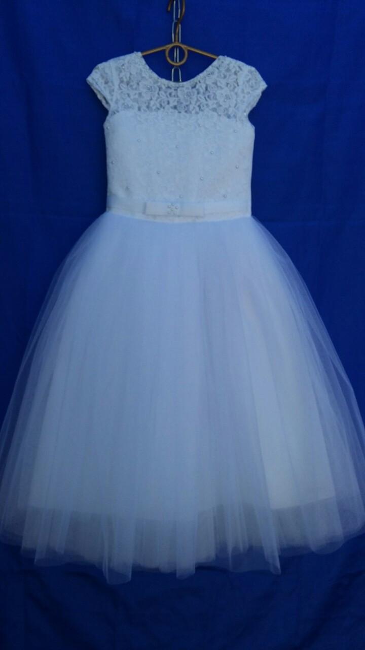 Платье нарядное для девочки р.6-7 лет опт белое