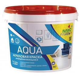 Інтер'єрна акрилова фарба миюча Aqua Nano farb 14 кг