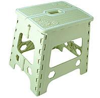 Табурет раскладной Stenson R87943 30х25х30 см, зеленый, фото 1