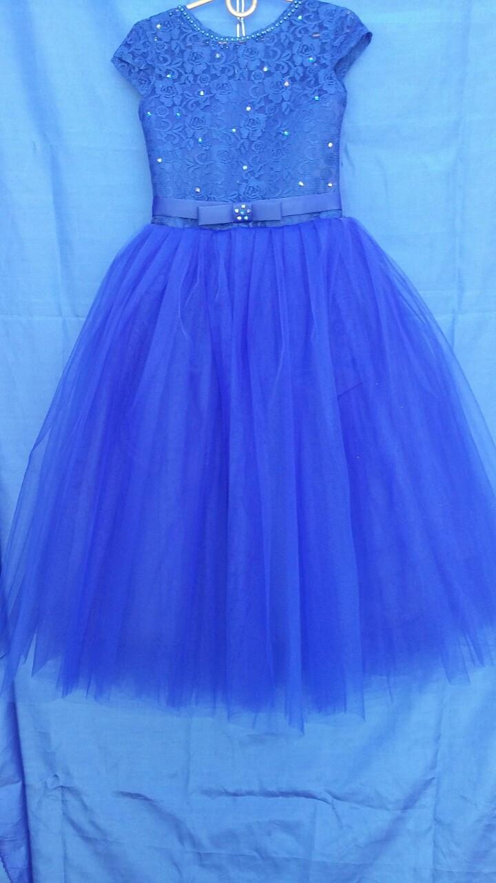 Сукня святкова для дівчинки р. 6-7 років опт сині