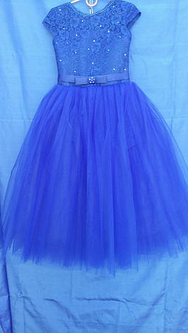 Сукня святкова для дівчинки р. 6-7 років опт сині, фото 2