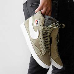Мужские кроссовки в стиле Nike Blazer Olive