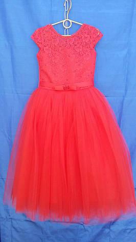 Платье нарядное для девочки р.6-7 лет опт красное, фото 2