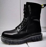 Ботинки молодежные на низком каблуке из натуральной кожи от производителя модель ЛЕ-ДМР01, фото 1