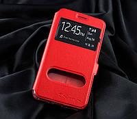 Чехол-книжка Nilkin с окном Samsung J7 Prime красный, фото 1