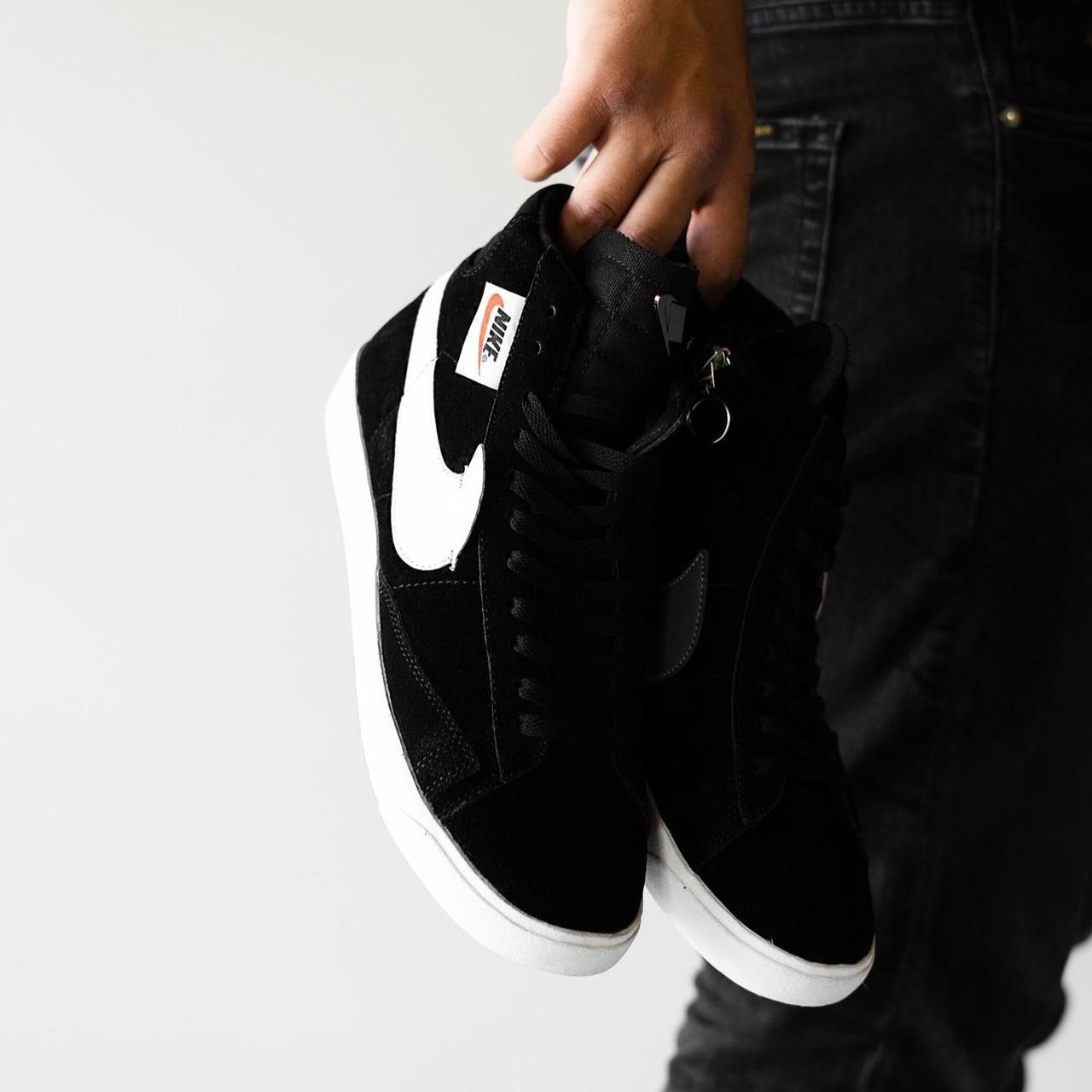Мужские кроссовки в стиле Nike Blazer Black