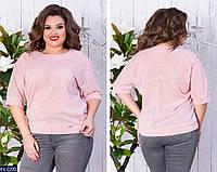Батальная кофта блуза размеры 48-54 арт 3059