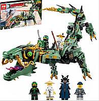 Конструктор Lepin 06051 Ninjago Movie Механический Дракон Зелёного Ниндзя