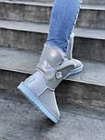 Натуральные женские угги UGG Australia Bailey Button Metalic Milk молочные кожаные. Фото в живую. Люкс реплика, фото 2