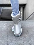 Натуральные женские угги UGG Australia Bailey Button Metalic Milk молочные кожаные. Фото в живую. Люкс реплика, фото 3
