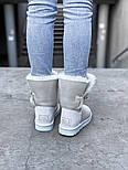 Натуральные женские угги UGG Australia Bailey Button Metalic Milk молочные кожаные. Фото в живую. Люкс реплика, фото 7