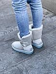 Натуральные женские угги UGG Australia Bailey Button Metalic Milk молочные кожаные. Фото в живую. Люкс реплика, фото 8