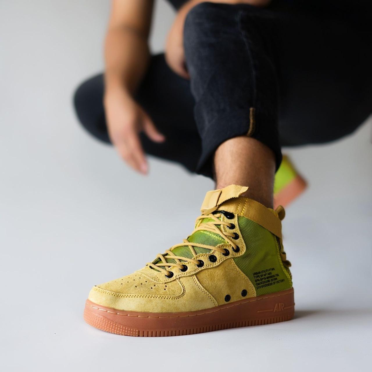 Мужские кроссовки в стиле Nike Special Field Air Force 1 Olive