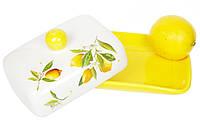 Маслянка керамічна 17см Соковиті лимони