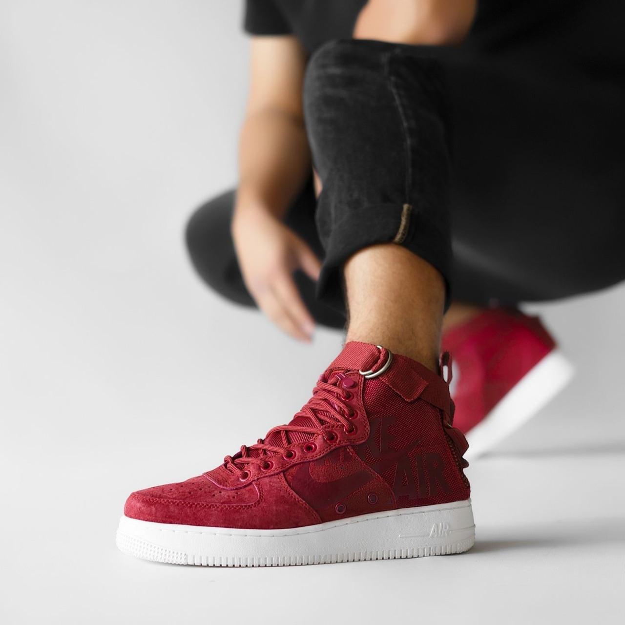 Мужские кроссовки в стиле Nike Special Field Air Force 1 Red