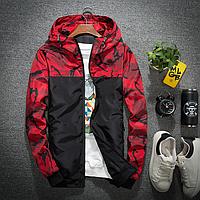 Спортивная куртка с принтом Красная