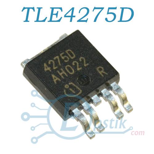 TLE4275D, стабилизатор напряжения, 5В, 450мA, TO252-5